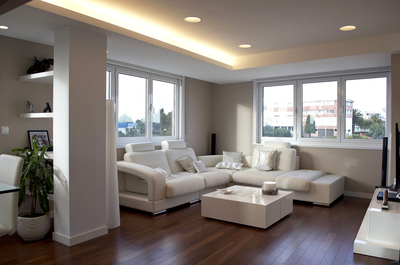 Reforma integral de piso en a coru a intra arquitectos for Fotos de salones de pisos