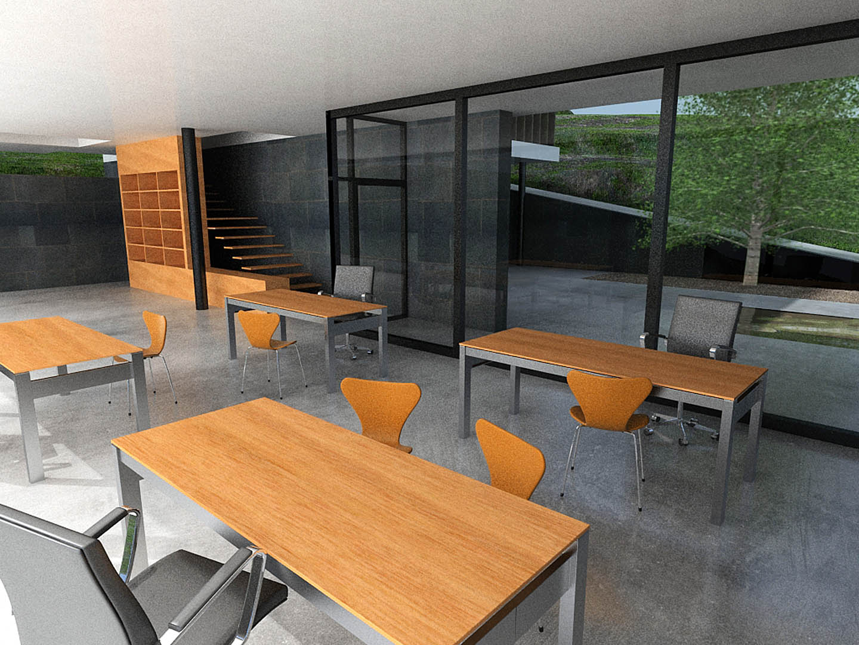 Oficina en santiago intra arquitectos for Oficina consumo santiago