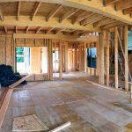 Construcción de una casa de madera